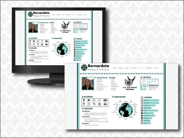 Bernardeta Designs & Production First Website