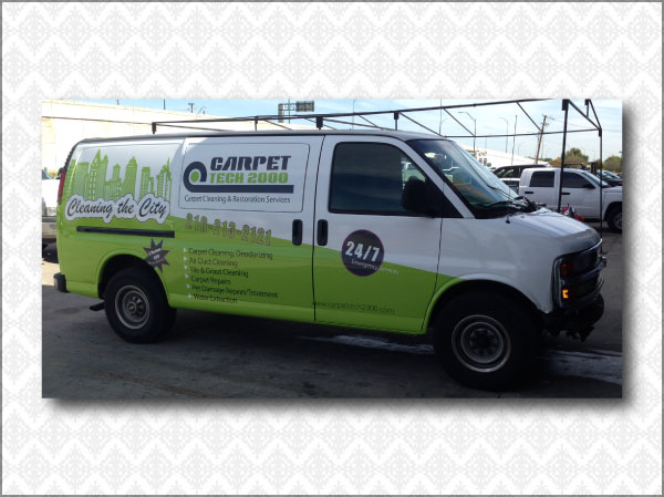 Carpet Cleaning Vehicle Wrap