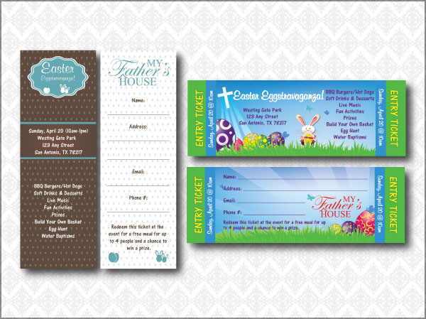 Easter Tickets and Bookmark