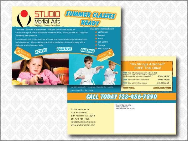 Martial Arts Studio Direct Mailer