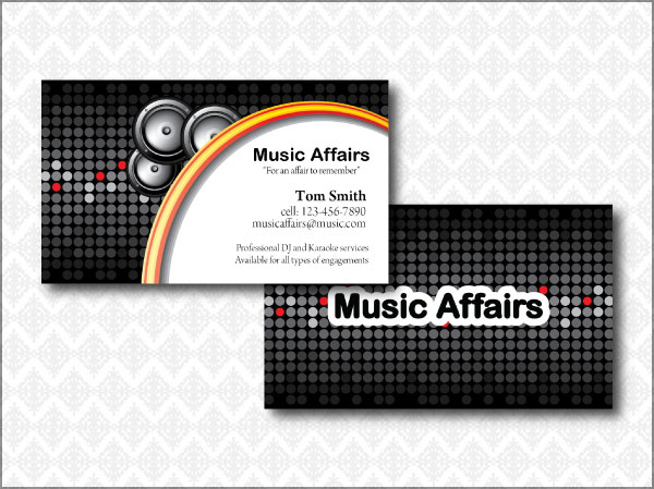 Music Store Cards