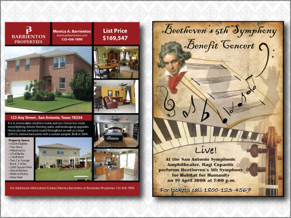 Realty and Concert Flyers