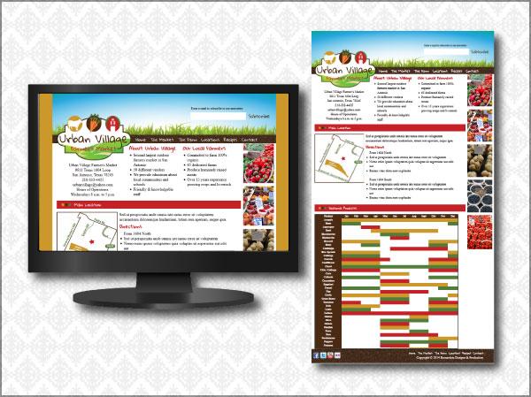 Urban Village Farmer's Market Website