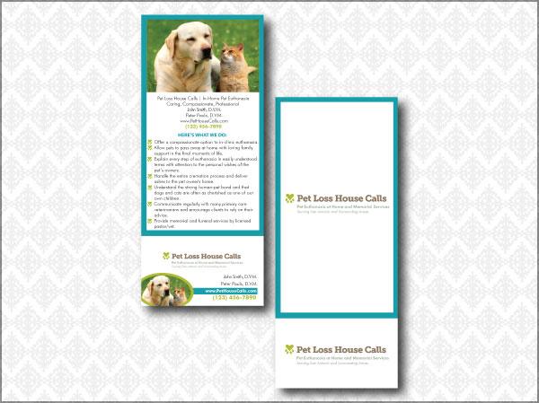 Pet Loss Clinic Rack Card