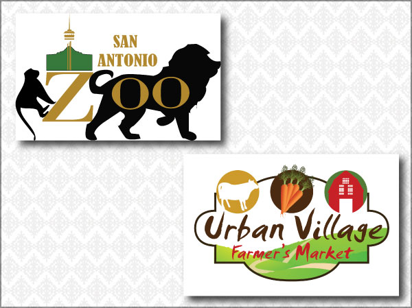 Zoo and Farmer's Market Logos